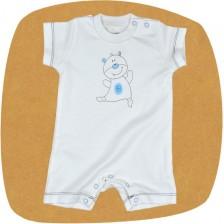 Бебешко гащеризонче с къс ръкав For Babies - Коте, 6-12 месеца -1