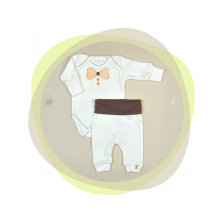Сет бебешко боди с потури For Babies - Папионка, 80 cm, 9-12 месеца -1