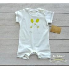 Бебешко гащеризонче с къс ръкав For Babies - Мишле, 6-12 месеца -1