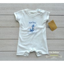 Бебешко гащеризонче с къс ръкав For Babies - Малко моряче, 3-6 месеца -1