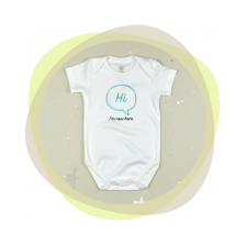 Памучно боди с къс ръкав For Babies - Hi, I'm new here, 62 cm, 1-3 месеца -1