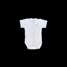 Боди с предно закопчаване къс ръкав For Babies - Мишле, 6-12 месеца -1