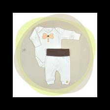 Сет бебешко боди с потури For Babies - Папионка, 50 cm, 0 месеца -1