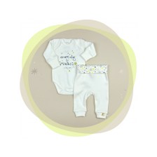 Сет бебешко боди с потури For Babies - Every day is magic whith me, 50 cm, 0 месеца -1