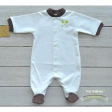 Бебешко гащеризонче с предно закопчаване For Babies - Мишле, 0 месеца -1