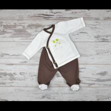 Сет камизолка и ританки For Babies - Мишле, 1-3 месеца -1