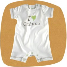 Бебешко гащеризонче с къс ръкав For Babies - Organic, 6-12 месеца -1