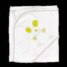 Бебешка пелена с качулка For Babies - Мишле -1