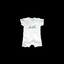 Бебешко гащеризонче с къс ръкав For Babies - Bikes, 6-12 месеца -1