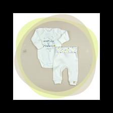 Сет бебешко боди с потури For Babies - Every day is magic whith me, 68 cm, 3-6 месеца -1