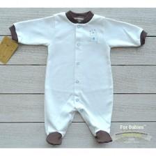 Бебешко гащеризонче с предно закопчаване For Babies - Мече, 0 месеца -1