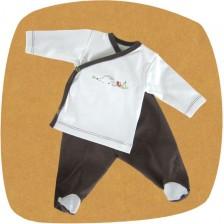 Сет камизолка и ританки For Babies - Таралежче, 6-12 месеца -1