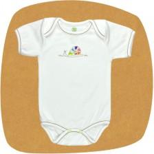 Боди с прехвърлено рамо For Babies - Охлювче с точки, 6-12 месеца -1