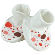 Бебешки обувки For Babies - Червени точици, 0+ месеца -1