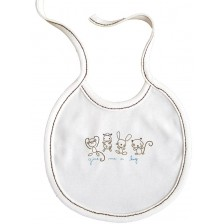 Бебешки лигавник с връзки For Babies - Give me a hug, син надпис -1