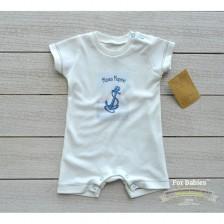 Бебешко гащеризонче с къс ръкав For Babies - Малко моряче, 6-12 месеца -1