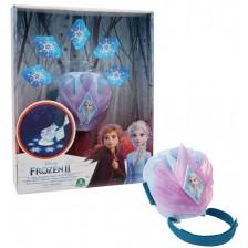 Игрален комплект Frozen 2 - Прожектор на снежни кристали Ice Walker -1