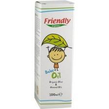 Бебешко олио Friendly Organic - С органично масло от малина и бадем, 100 ml -1