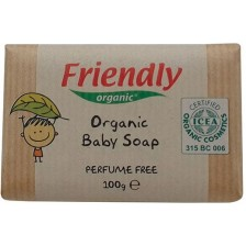 Бебешки сапун  Friendly Organic - С масло от ший и сладък бадем, 100 g -1