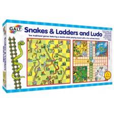 Детски игри 2 в 1 Galt - Змии и стълби и  Не се сърди човече -1