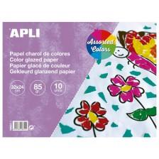Блокче APLI - Гланцово, 10 листа, различни цветове -1