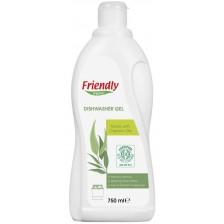 Гел за съдомиялна Friendly Organic - На растителна основа, 750 ml  -1