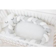 Гнездо Bubaba - Сиво/бяло плитка
