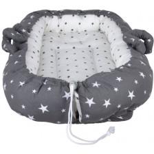 Гнездо за новородено Sevi Baby - сиви звезди -1