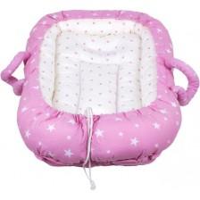 Гнездо за новородено Sevi Baby - розови звезди -1