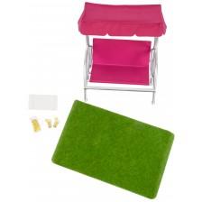 Комплект мини мебели Lori Dolls - Градински мебели за кукли -1