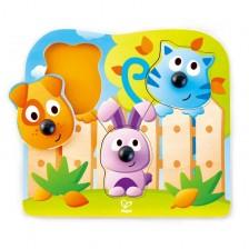 Дървен пъзел за бебета - Животни -1