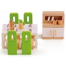 Комплект дървени мини мебели Hape - Трапезария -1