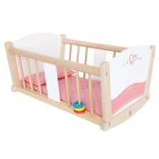 Детска легло Hape - За кукли, люлеещо се -1