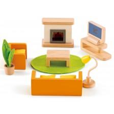 Комплект дървени мини мебели Hape - Всекидневна -1