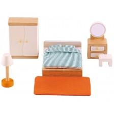 Комплект дървени мини мебели Hape - Спалня -1