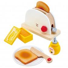 Дървена играчка Hape - Тостер -1
