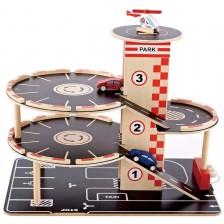 Игрален комплект Hape - Триетажен паркинг -1