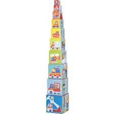 Игра с кубчета Haba - Пожарна -1