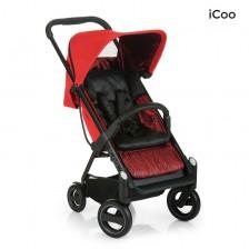Детска количка Hauck iCoo - Acrobat Fishbone, червена -1