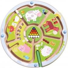 Детска магнитна игра Haba - Числа с животни -1