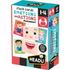 Образователни флаш карти Headu Montessori - Емоции и действия -1