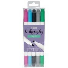 Химикалки за калиграфия Sense, двустранни -1