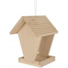 Дървен комплект Eichhorn - Хранилка за птици, за оцветяване