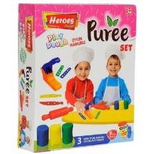 Игрален комплект Heroes Play Dough - За приготвяне на пюре -1