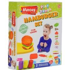 Игрален комплект Heroes Play Dough - Хамбургер -1