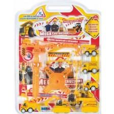 Игрален комплект RS Toys - Строителни машини, 6 броя -1