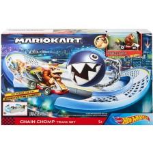 Игрален комплект Mattel Hot Wheels - Супер Марио Chain Chomp Track Set -1