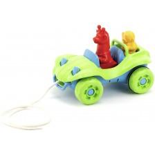 Играчка за дърпане Green Toys - Бъги, зелено -1