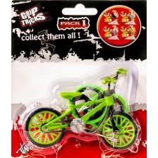 Играчка за пръсти Grip&Trick - Finger BMX Stunt, зелена -1
