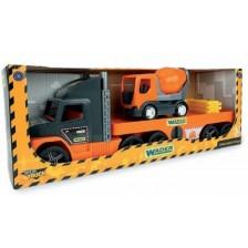 Игрален комплект Wader - Товарен камион с бетоновоз -1